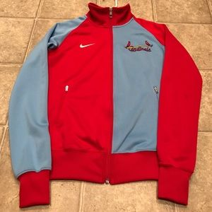 Nike St. Louis Cardinals track jacket mens small